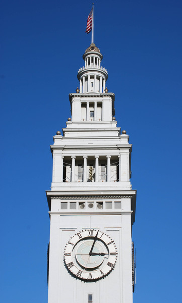 Clock tower at port of San Francisco