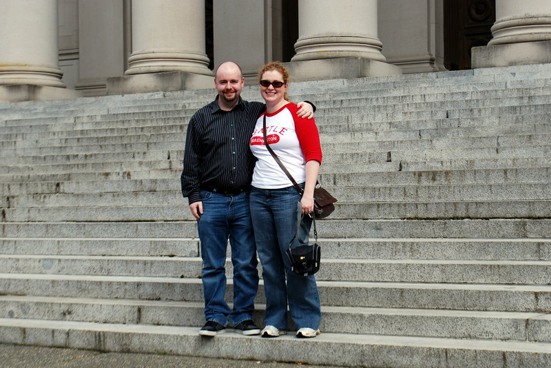 Stu and Meaghs at the Temple of Justice