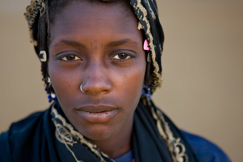 Girl from Fachi. Ténéré dessert.