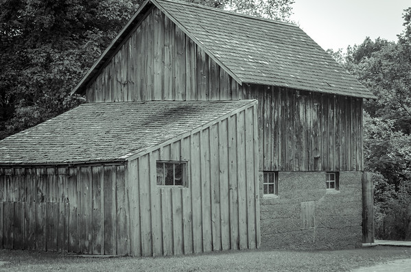 Weathered in black and white