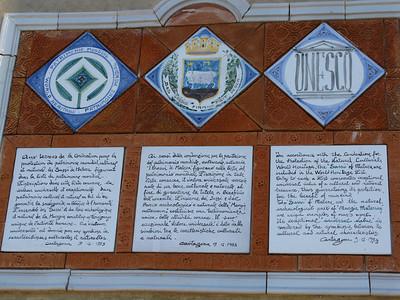 Plaques describing the UNESCO World Heritage site