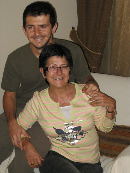 Mehmet and his mother after dinner