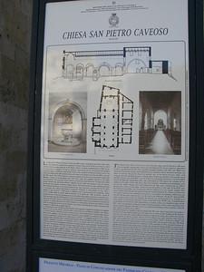 Chiesa San Pietro Caveoso info plaque
