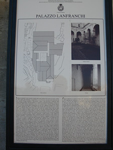 Palazzo Lanfranchi info plaque