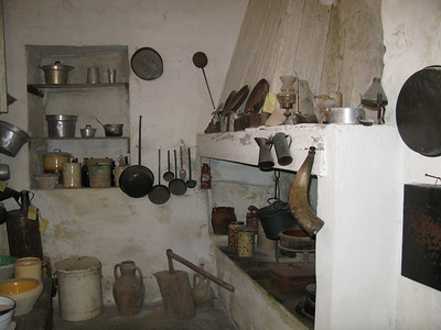 Inside the museum cave dwelling - kitchen