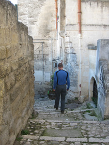 Narrow cobblestone staircases are everywhere
