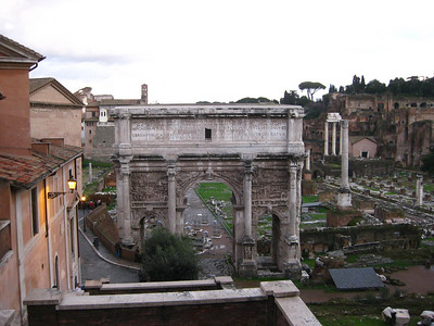 Colosseum and triumphal arch