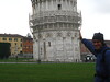 The famous leaning tower