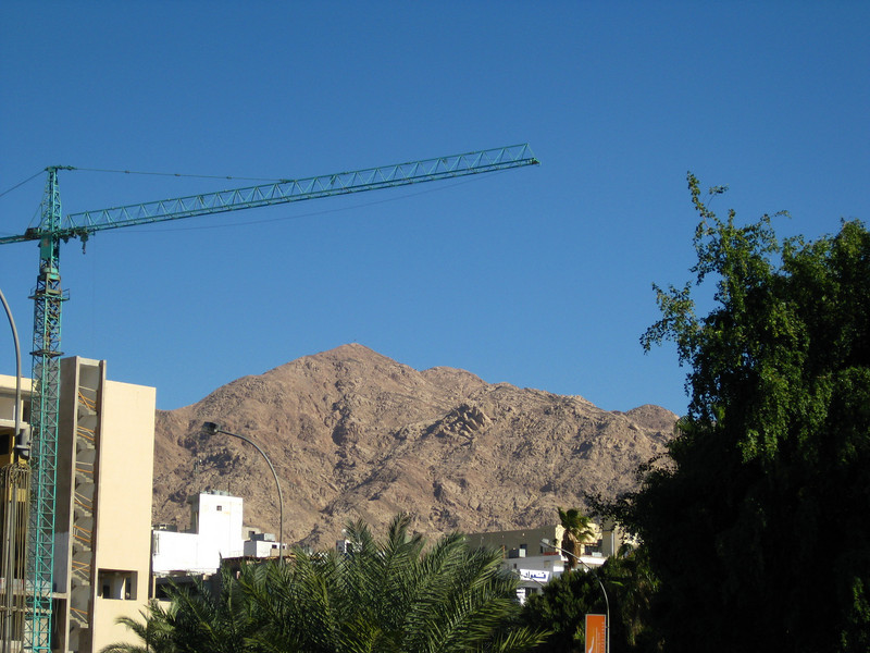 Mountains and hotel construction