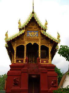 Temple holding an ancient book of Buddhist law