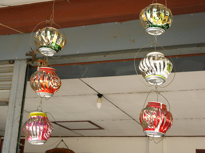 interesting mobiles made from aluminum cans
