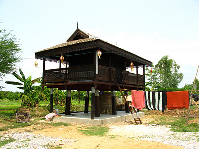 traditional drying hut for rice