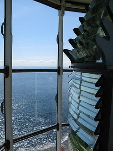 Fresnel lens in Point Amour lighthouse