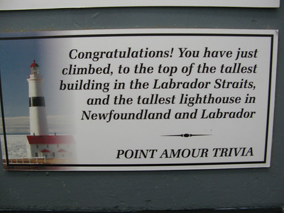 Point Amour - tallest lighthouse in Newfoundland and Labrador