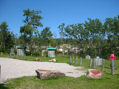 Rossport Rest Area - outhouses, picnic tables, beach on Lake Superior, what more could we want?