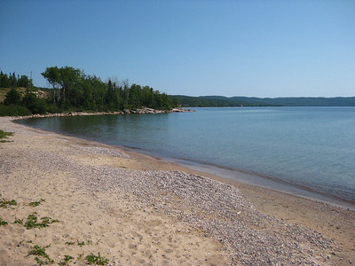 A beautiful beach at the Rossport Rest Area