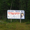 Billboard for Shania Twain Way - welcome to Timmins