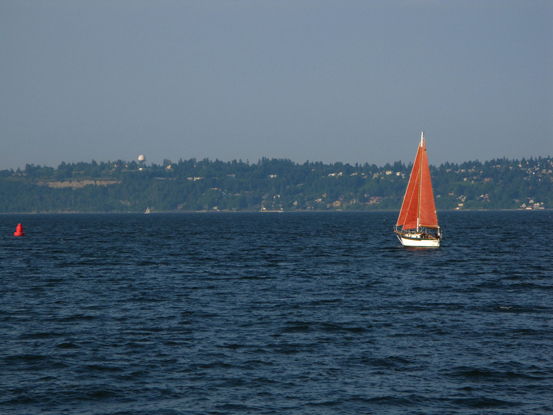 Sailboat near Bainbridge Island
