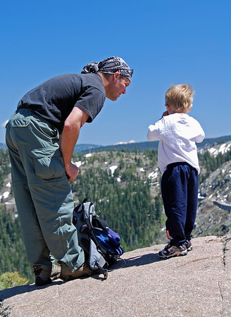 Hiking at Donner Summit 08