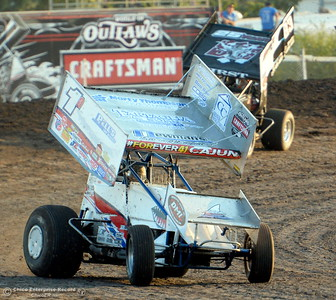 during the final day of the 65th annual Gold Cup Race of Champions at the Silver Dollar Speedway in Chico, Calif. Saturday, Sept. 8, 2018.  (Bill Husa -- Enterprise-Record)