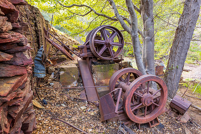 Remains of a stamp mill near a old gold mine