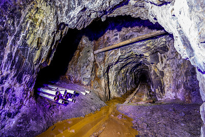 Flooded Gold Mine Exploration. Pipes.