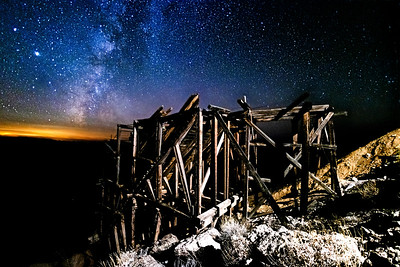 ⛏ Setting Milky Way and Large Old Wooden Ore Bin ⛏
