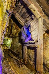 Flooded Gold Mine Exploration. Ore chute.