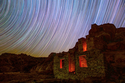 ⛏ Star Trails Above the Great Western Mill Ruins ✨