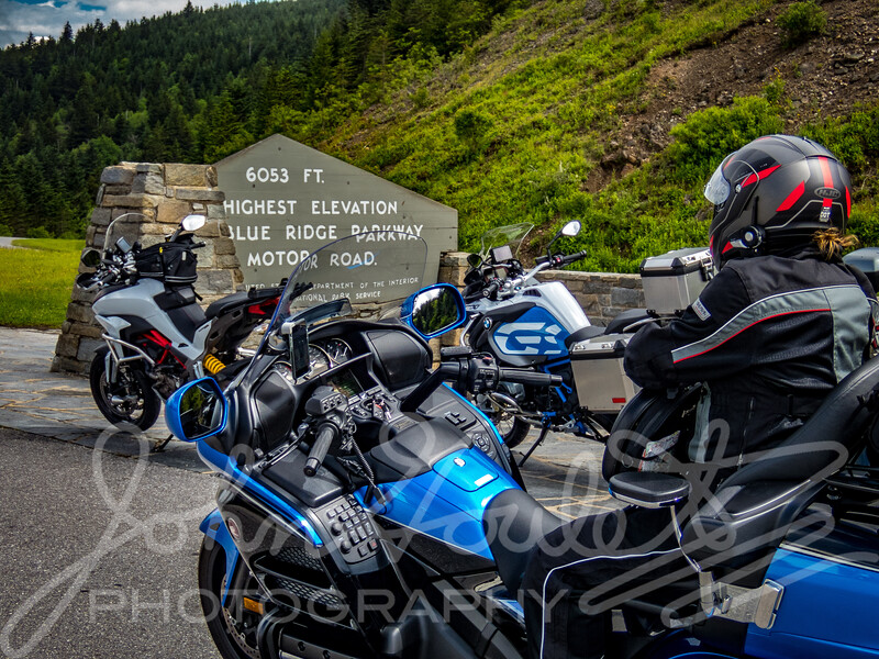 Blue Ridge Parkway by Honda Gold Wing