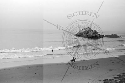 Ocean Beach Horse Rider Headed North