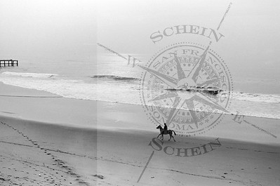 Ocean Beach Horse Rider headed south