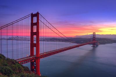 Golden Gate Bridge Closed Sunset