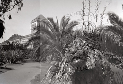 Lion Statue by Roland Hinton Perry