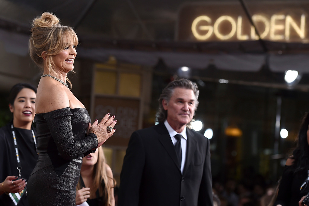 . Goldie Hawn, left, and Kurt Russell arrive at the 74th annual Golden Globe Awards at the Beverly Hilton Hotel on Sunday, Jan. 8, 2017, in Beverly Hills, Calif. (Photo by Jordan Strauss/Invision/AP)