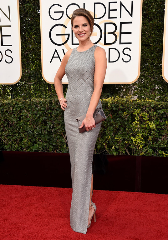 . Natalie Morales arrives at the 74th annual Golden Globe Awards at the Beverly Hilton Hotel on Sunday, Jan. 8, 2017, in Beverly Hills, Calif. (Photo by Jordan Strauss/Invision/AP)