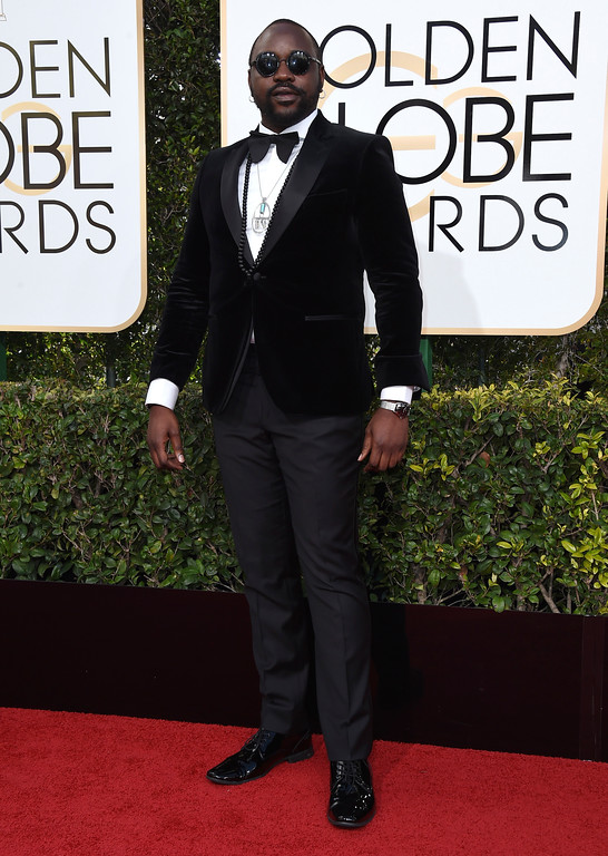 . Brian Tyree Henry arrives at the 74th annual Golden Globe Awards at the Beverly Hilton Hotel on Sunday, Jan. 8, 2017, in Beverly Hills, Calif. (Photo by Jordan Strauss/Invision/AP)