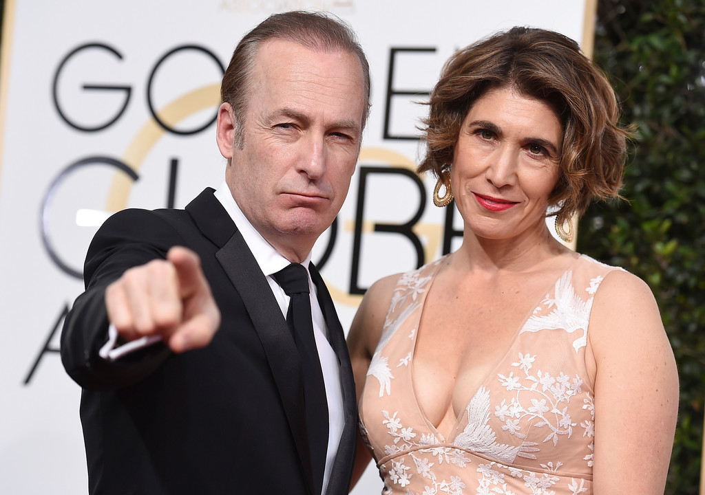 . Bob Odenkirk, left, and Naomi Odenkirk arrive at the 74th annual Golden Globe Awards at the Beverly Hilton Hotel on Sunday, Jan. 8, 2017, in Beverly Hills, Calif. (Photo by Jordan Strauss/Invision/AP)