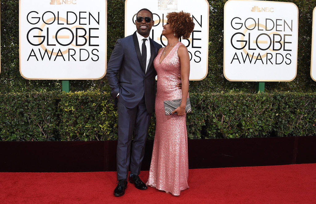 . Sterling K. Brown, left, and Ryan Michelle Bathe arrive at the 74th annual Golden Globe Awards at the Beverly Hilton Hotel on Sunday, Jan. 8, 2017, in Beverly Hills, Calif. (Photo by Jordan Strauss/Invision/AP)