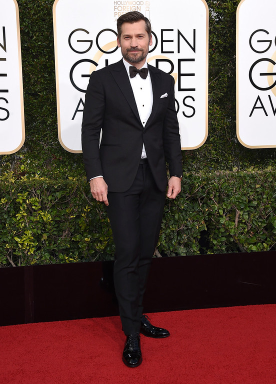 . Nikolaj Coster-Waldau arrives at the 74th annual Golden Globe Awards at the Beverly Hilton Hotel on Sunday, Jan. 8, 2017, in Beverly Hills, Calif. (Photo by Jordan Strauss/Invision/AP)