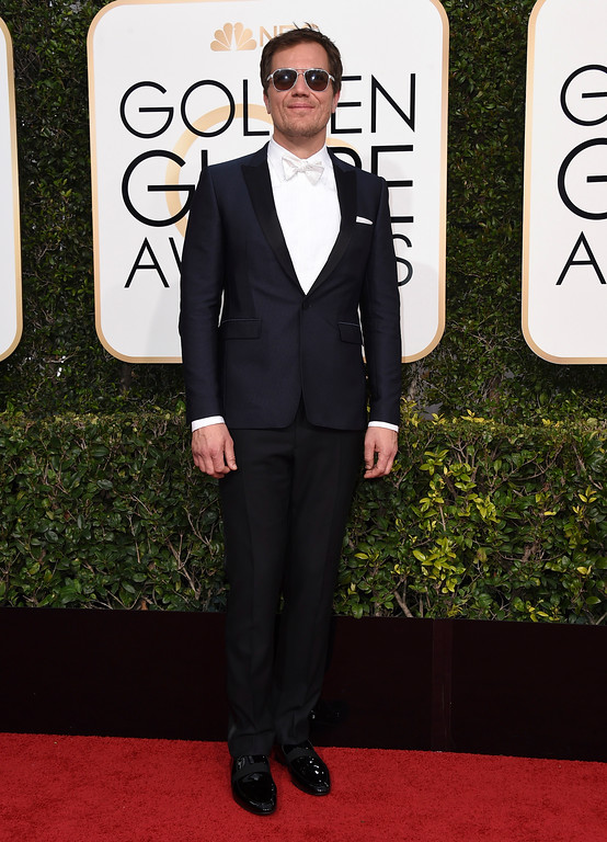 . Michael Shannon arrives at the 74th annual Golden Globe Awards at the Beverly Hilton Hotel on Sunday, Jan. 8, 2017, in Beverly Hills, Calif. (Photo by Jordan Strauss/Invision/AP)