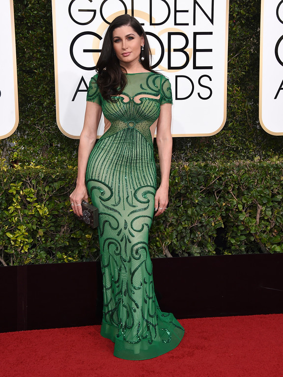 . Trace Lysette arrives at the 74th annual Golden Globe Awards at the Beverly Hilton Hotel on Sunday, Jan. 8, 2017, in Beverly Hills, Calif. (Photo by Jordan Strauss/Invision/AP)
