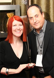 Kate Flannery with Jeff Owen