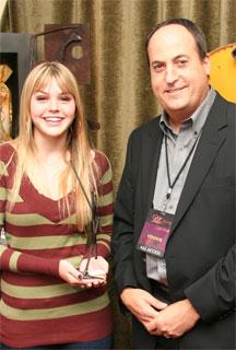 Aimee Teegarden with Jeff Owen