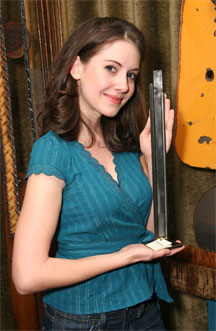 Alison Brie with Jeff Owen