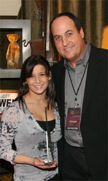 Alicia Sacramone with Jeff Owen
