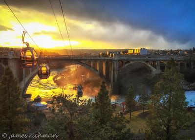 Golden Gondolas - in Riverfront Park