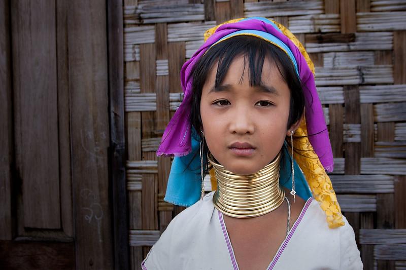 Young Padaung (Kayan) girl. Nyaungshwe.