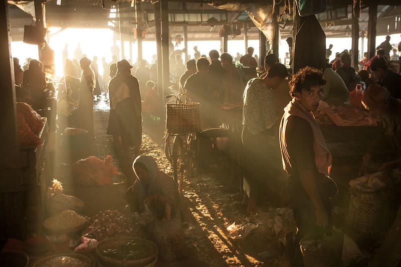 Market, Sittwe.