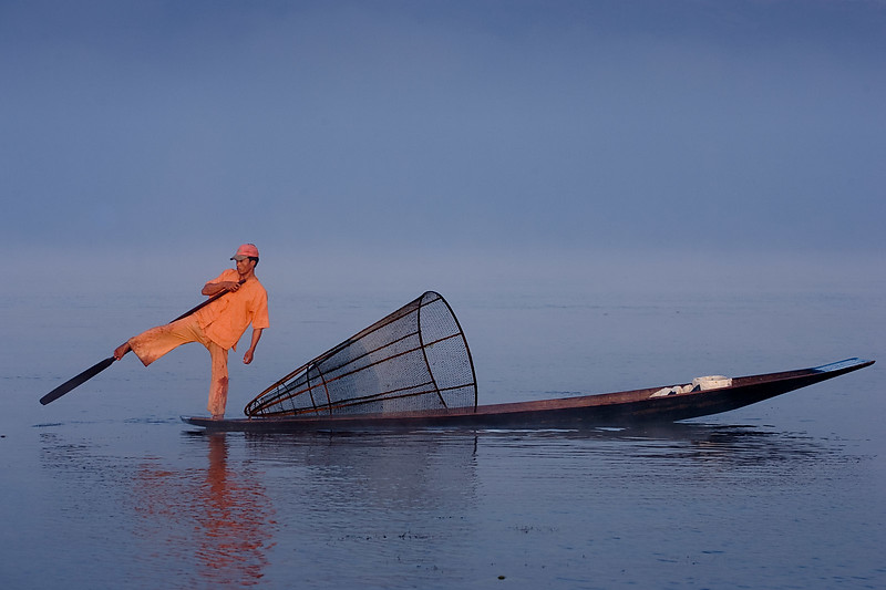 Fisherman on Inle lake.